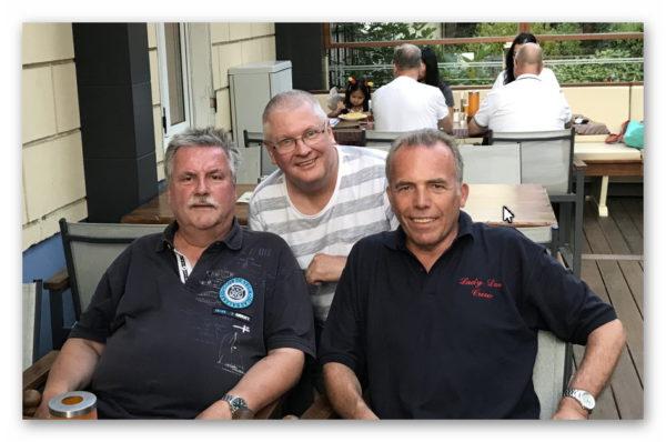 Bernd, Klaus und Frank auf Tour