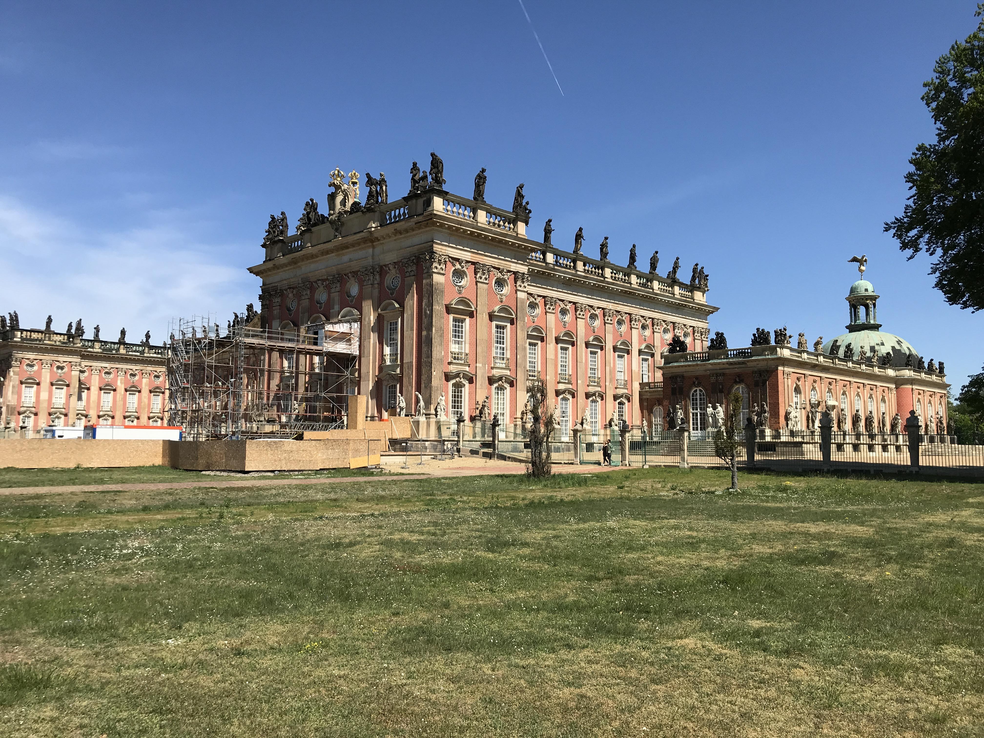 Sanssouci-Besuch in Potsdam am 30.4.2019